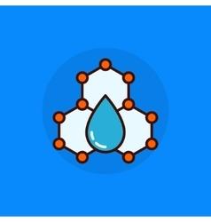 Water molecule flat icon vector image