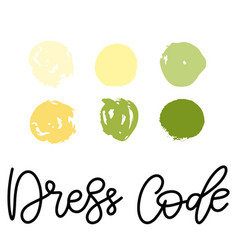 Wedding dress code color palette vector