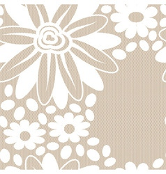 White flower lace seamless pattern vector
