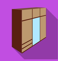a large bedroom wardrobe with mirrow and lots of vector image vector image