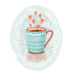 coffee cup love vector image
