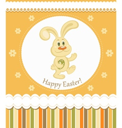 easter bunny greeting card vector image
