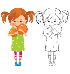 Girl with ball vector image vector image