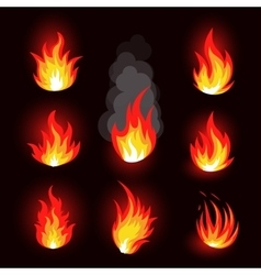 Isolated abstract red and orange color fire flame vector image vector image
