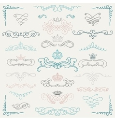Colorful Vintage Hand Drawn Swirls and vector image vector image