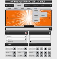 creative web design elements set vector image vector image