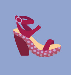 fashion sandals female multicolored isolated vector image