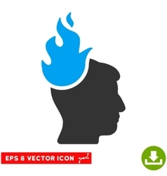 Fired Head Eps Icon vector image vector image