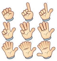 Hand count vector
