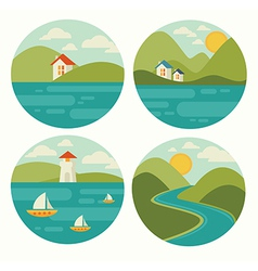 landscape and nature vector image
