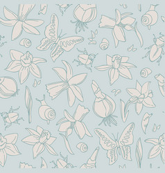 light flowers seamless pattern vector image vector image