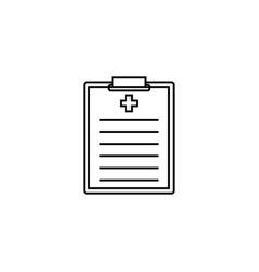 medical clipboard line icon medical form vector image vector image