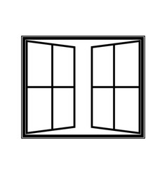 open window icon vector image