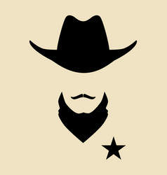 sheriff vector image vector image