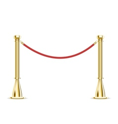 Barrier rope isolated on white vector image