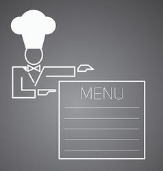 Flat character Chef menu vector image