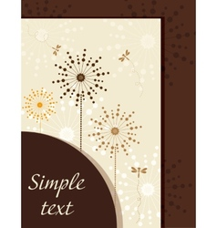 Flower booklet with dandelions vector image