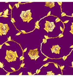 gold-purple seamless rose sari pattern vector image vector image