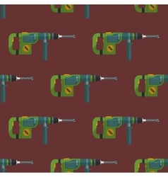 hammer drill seamless pattern vector image