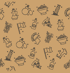 italy icons design pattern vector image vector image