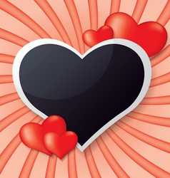 Photo frame whit heart vector image vector image