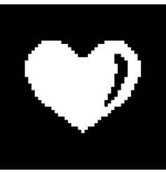 Sign pixel heart white 507 vector image vector image