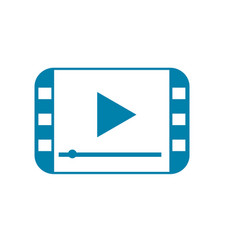 silhouette video digital play media screen vector image