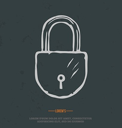 t-shirt graphic padlock grunge on separate layer vector image vector image