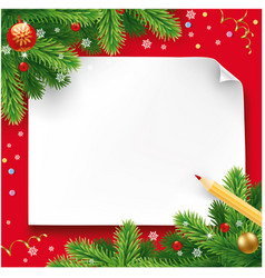 christmas wish letter letter to santa vector image vector image