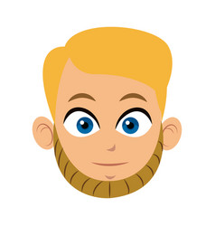 head man face character image vector image