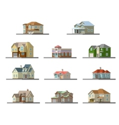 image of a private house flat vector image vector image