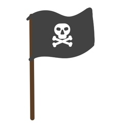 Pirate flag isolated vector