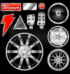 sport car equipments vector image