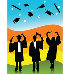 spring graduates vector image