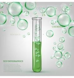 01 infographics green molecule vector