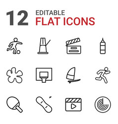12 action icons vector