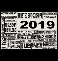 2019 world politics vector
