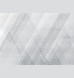 abstract white and gray geometric banner with vector image