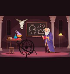 Alchemy cartoon vector