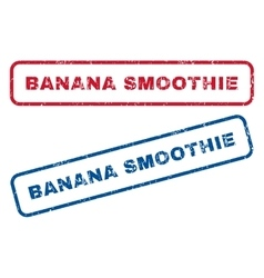 Banana Smoothie Rubber Stamps vector