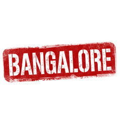 bangalore sign or stamp vector image