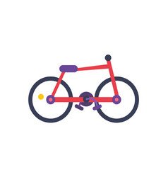 bicycle red color poster vector image