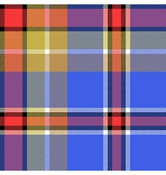 Blue check fabric texture seamless pattern vector