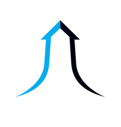 Boost up arrow graphic design element business vector