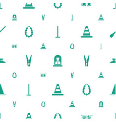 Border icons pattern seamless white background vector