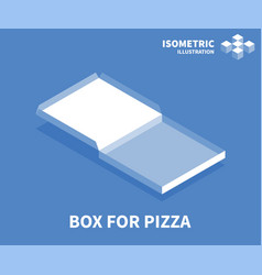 box for pizza icon isometric template vector image