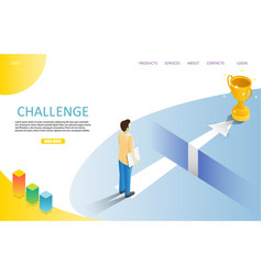 Business challenge landing page website vector