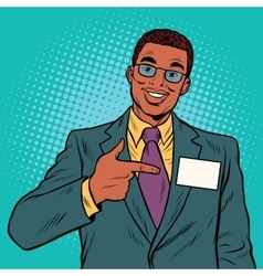 Businessman Manager with a name badge vector