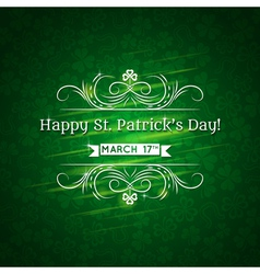 Card for St Patricks Day with text and many shamro vector