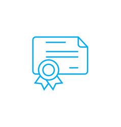 cash cheque linear icon concept cash cheque line vector image